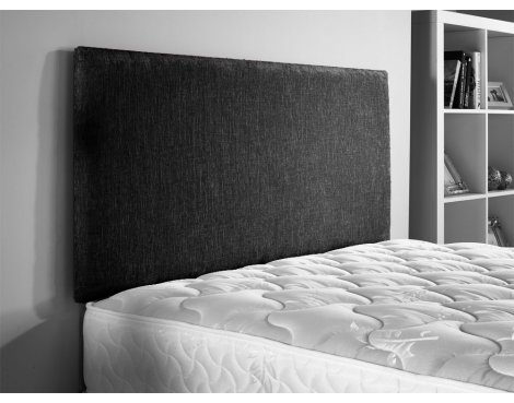 ValuFurniture Chenille Fabric Headboard - Black - Super King 6ft