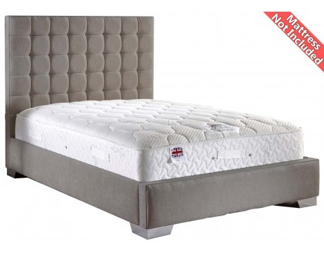 ValuFurniture Coppella Chenille Fabric  Divan Bed Frame - Silver - Super King - 6ft