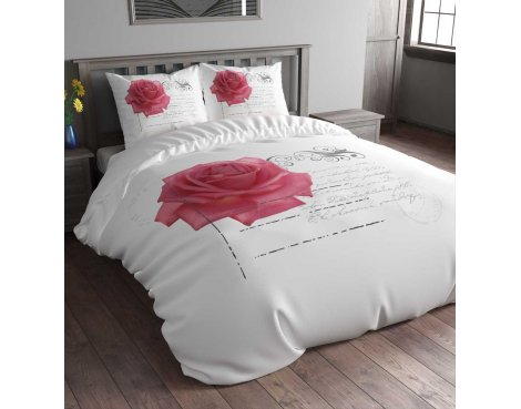Sleep Time Stamp Rose Duvet Cover Set - Pink - King 5ft