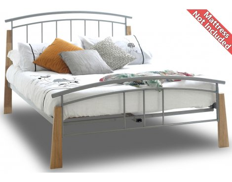 Sareer Jose Metal Bed Frame - Double 4ft6 - White