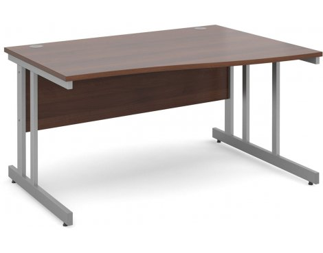 DSK Momento 1400mm Right Hand Wave Desk - Walnut