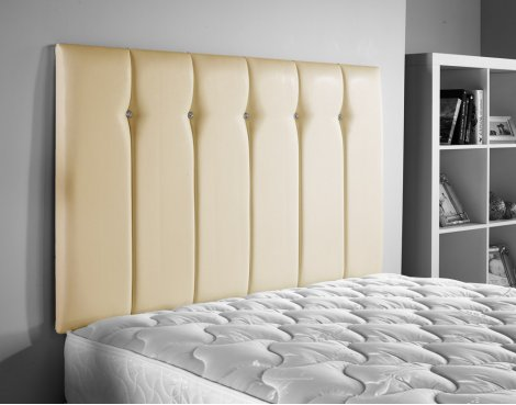 ValuFurniture Jubilee Leather Headboard - Cream - King 5ft