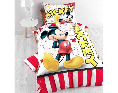 Disney Mickey Stripe 2014 Duvet Cover Set For Kids - Multicoloured - Single 3ft