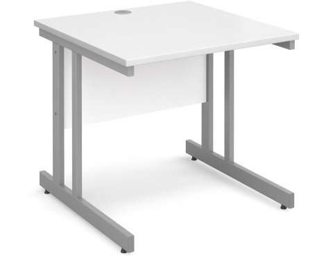 DSK Momento 800mm Straight Desk - White