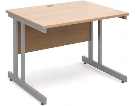 DSK Momento 1000mm Straight Desk - Beech