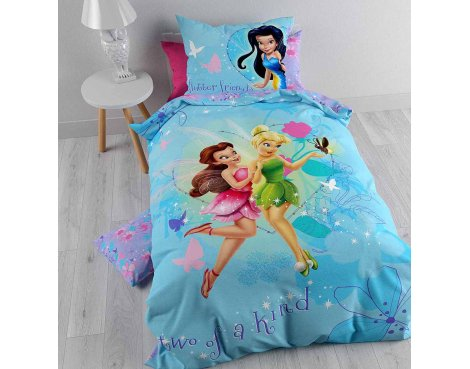 Disney Tinker Bell Fairy Duvet Cover Set For Kids - Multicoloured - Single 3ft