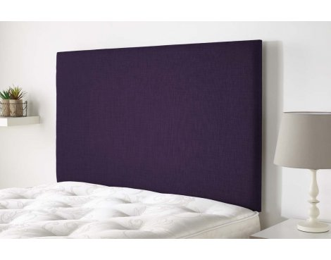 Aspire Furniture Derwent Headboard in Malham Weave Fabric - Purple - Double 4ft6