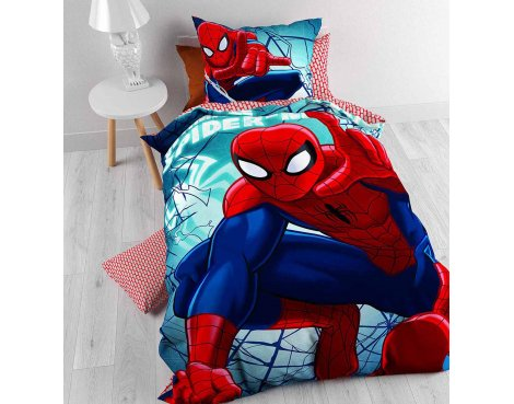 Disney Spiderman GO! Duvet Cover Set For Kids - Multicoloured - Single 3ft