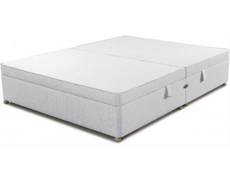 Sleepeezee Side Opening Ottoman Storage Divan Base - White - King 5ft