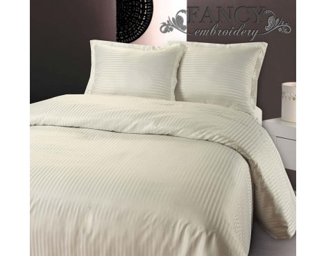 Fancy Embroidery Dallas Duvet Cover Set - Cream - Single 3ft