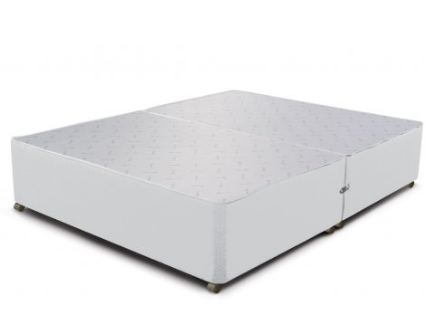 Sleepeezee Divan Base - No Drawer - White - Super King 6ft
