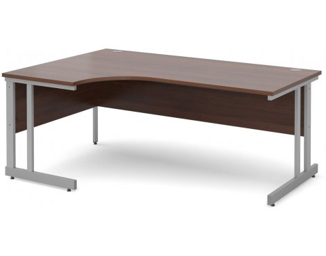 DSK Momento 1800mm Left Hand Ergonomic Desk - Walnut