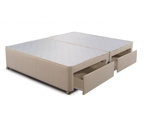 Sleepeezee Divan Base - 4 Drawer - Marble - King 5ft