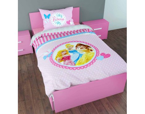 Disney My Princess and Me Duvet Cover Set For Kids - Multicoloured - Single 3ft