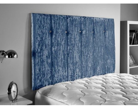 ValuFurniture Jubilee Velvet Fabric Headboard - Blue - Super King 6ft