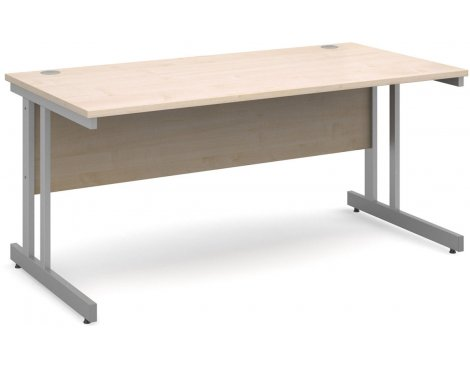 DSK Momento 1600mm Straight Desk - Maple