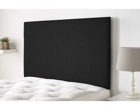 Aspire Furniture Derwent Headboard in Malham Weave Fabric - Charcoal - Double 4ft6