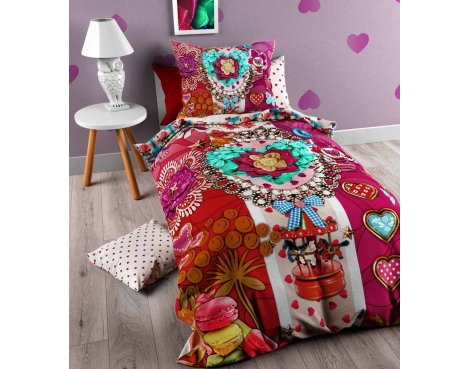 So Cute Ruby Duvet Cover Cover For Kids - Multicoloured - Single 3ft