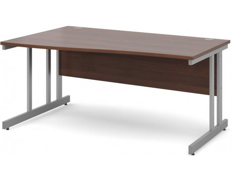 DSK Momento 1600mm Left Hand Wave Desk - Walnut