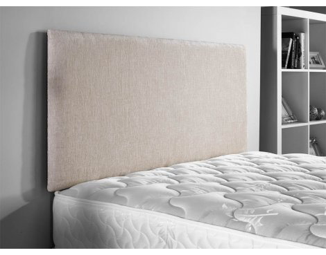 ValuFurniture Doll Chenille Fabric Headboard - Cream - Double 4ft6