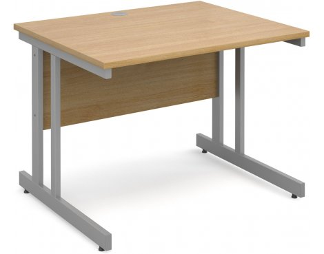 DSK Momento 1000mm Straight Desk - Light Oak