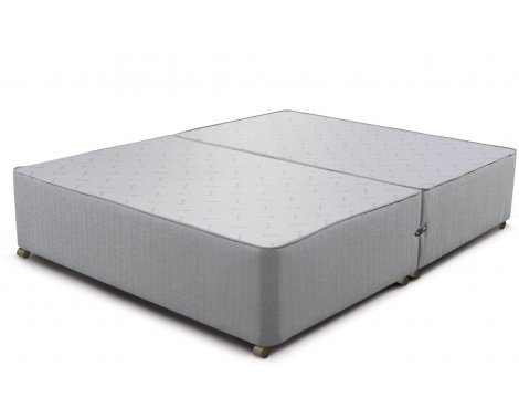 Sleepeezee Divan Base - No Drawer - Slate - Small Double 4ft