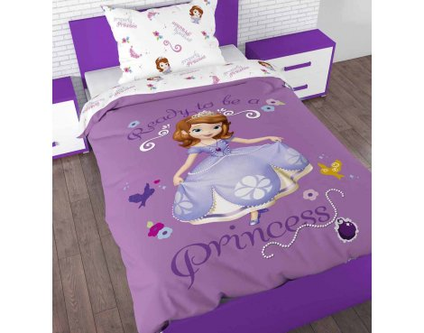 Disney Sofia the First Duvet Cover Set For Kids - Multicoloured - Single 3ft