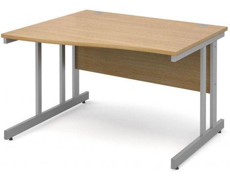 DSK Momento 1200mm Left Hand Wave Desk - Light Oak