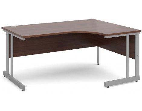 DSK Momento 1600mm Right Hand Ergonomic Desk - Walnut