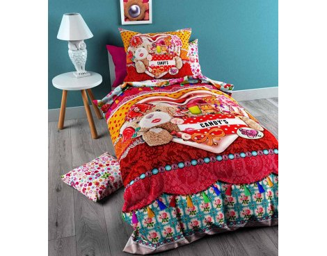 So Cute Candy Duvet Cover Cover For Kids - Multicoloured - Single 3ft