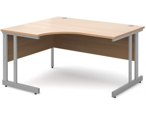 DSK Momento 1400mm Left Hand Ergonomic Desk - Beech