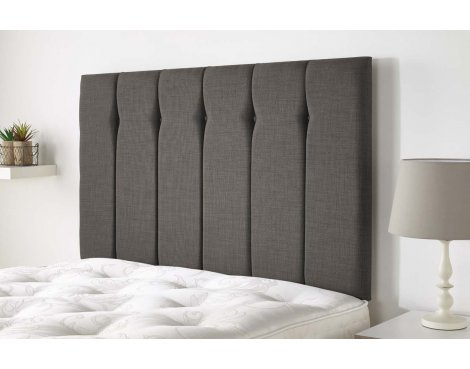 Aspire Furniture Amberley Headboard in Malham Weave Fabric - Slate - Double 4ft6