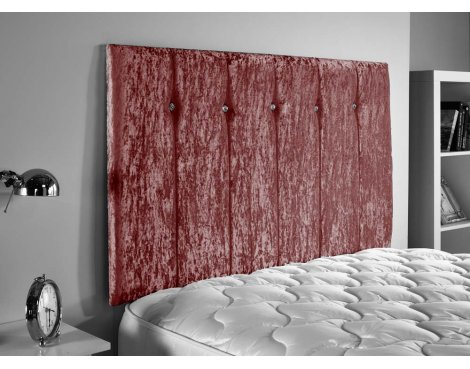 ValuFurniture Jubilee Velvet Fabric Headboard - Mulberry - Small Double 4ft