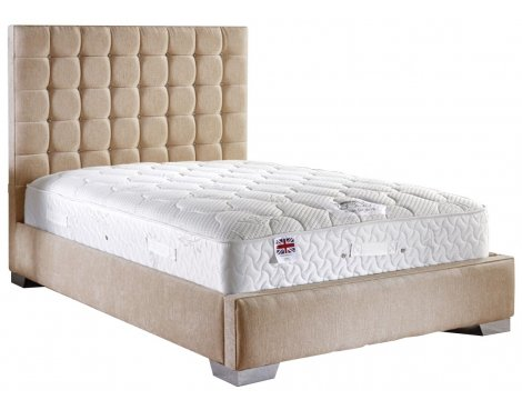 ValuFurniture Coppella Fabric Divan Bed & Mattress Set - Mink - Double - 4ft 6