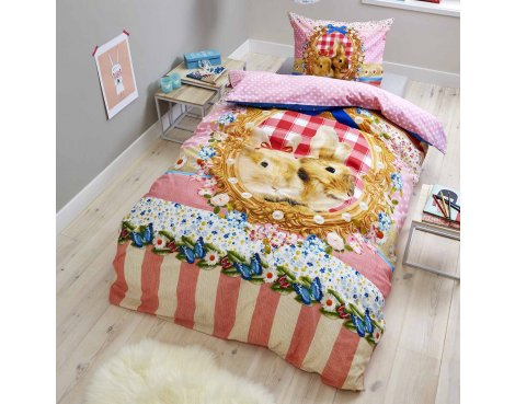 Dreamhouse Bonnie and Clyde Duvet Cover Set For Kids - Multicoloured - Single 3ft