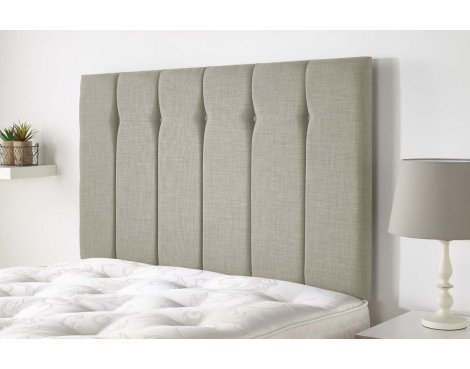 Aspire Furniture Amberley Headboard in Malham Weave Fabric - Pearle - Single 3ft