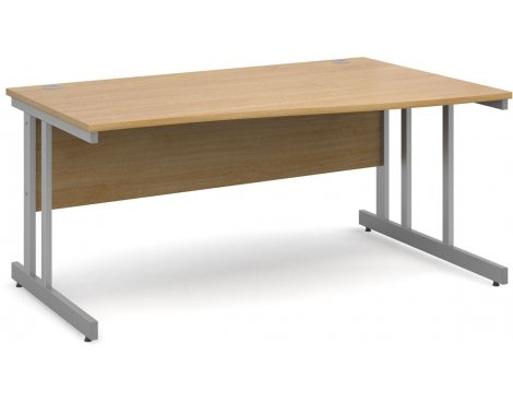 DSK Momento 1600mm Right Hand Wave Desk - Light Oak
