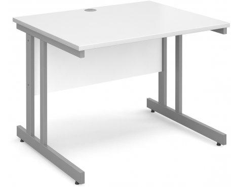 DSK Momento 1000mm Straight Desk - White