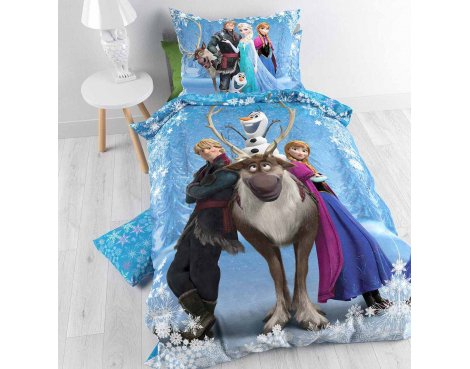 Disney Frozen Smile Duvet Cover Set For Kids - Multicoloured - Single 3ft