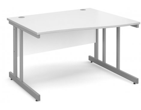 DSK Momento 1200mm Right Hand Wave Desk - White