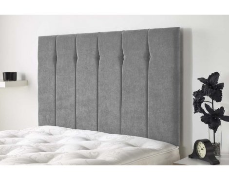 Aspire Furniture Portmoor Headboard in Katsuro Linen Fabric - Grey - King 5ft