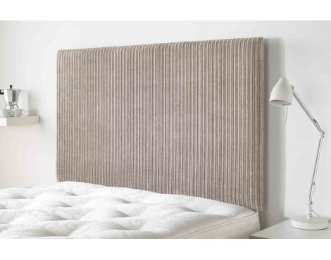 Aspire Furniture Lightmoor Headboard in Loumaire Corded Fabric - Mink - Double 4ft6