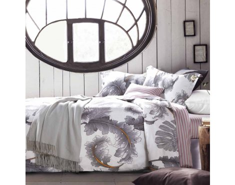 Primaviera Deluxe SL 47 Joey Duvet Cover Set - Grey - Single 3ft