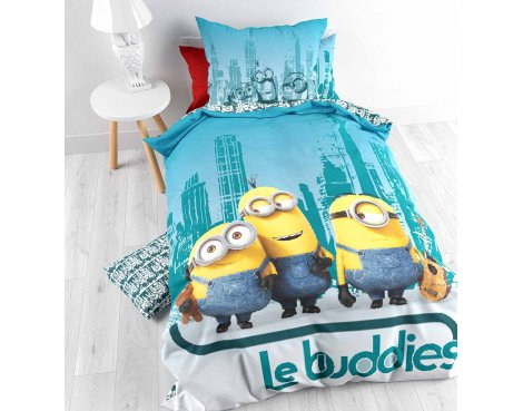 Universal Minions Guitar Duvet Cover Set For Kids - Multicoloured - Single 3ft