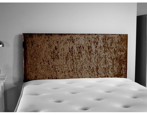 ValuFurniture Doll Velvet Fabric Headboard - Brown - Double 4ft6