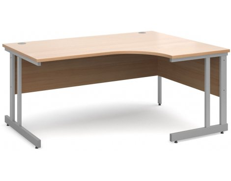 DSK Momento 1600mm Right Hand Ergonomic Desk - Beech