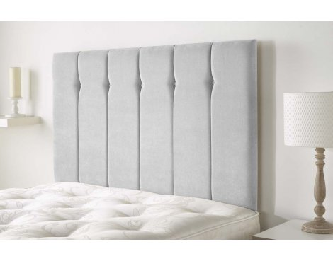Aspire Furniture Portmoor Headboard in Katsuro Linen Fabric - Silver - King 5ft