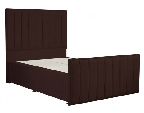 Luxan Hampstead Dun Colours Bed Frame - Chocolate - Double 4ft6 - 2 Drawers