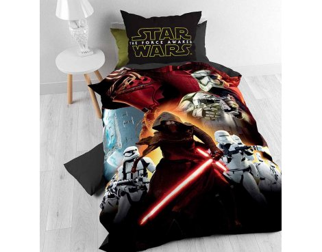 Disney Star Wars Episode 7 Total Duvet Cover Set For Kids - Multicoloured - Single 3ft