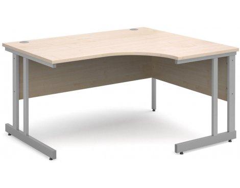 DSK Momento 1400mm Right Hand Ergonomic Desk - Maple